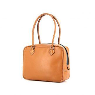 620088eea3d7 UK Replica Hermes Nouméa handbag in black and gold leather – Best ...
