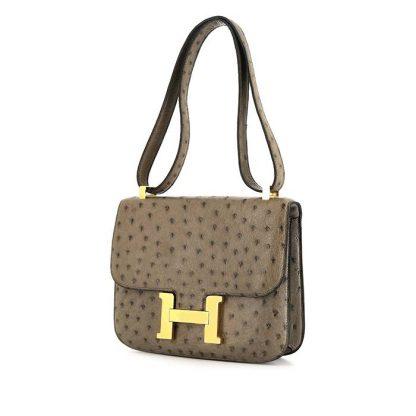 eaf3f43cc Best Replica Hermes Constance handbag in grey ostrich leather – Best ...