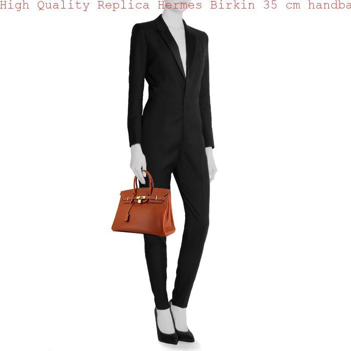 27e17a98442b High Quality Replica Hermes Birkin 35 cm handbag in gold epsom leather