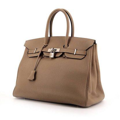 1e8bde7e109 High Quality Replica Hermes Birkin 35 cm handbag in grey togo leather