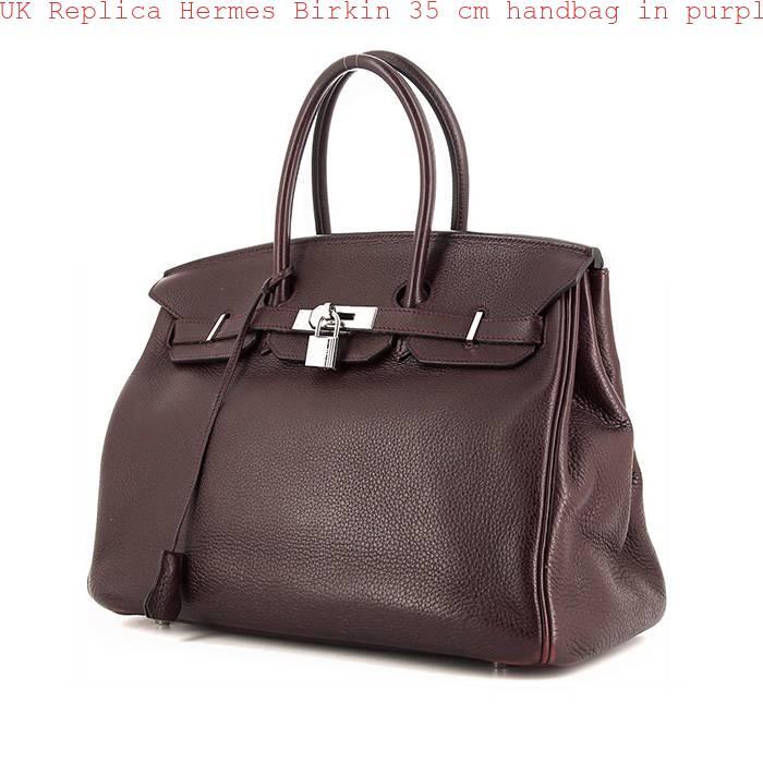 851c0619caa UK Replica Hermes Birkin 35 cm handbag in purple leather taurillon clémence