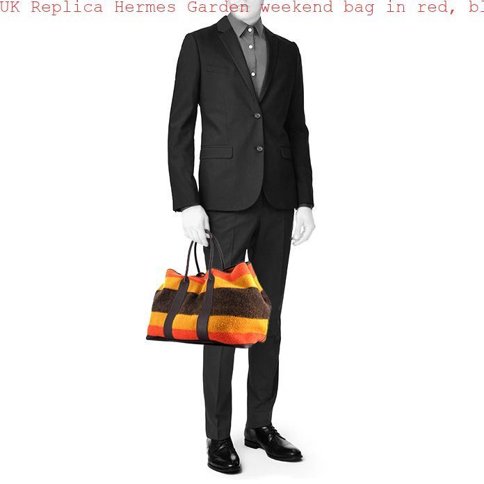 c41d13c43fed UK Replica Hermes Garden weekend bag in red