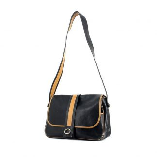 2595e2670c03 You re viewing  UK Replica Hermes Nouméa handbag in black and gold leather  £1