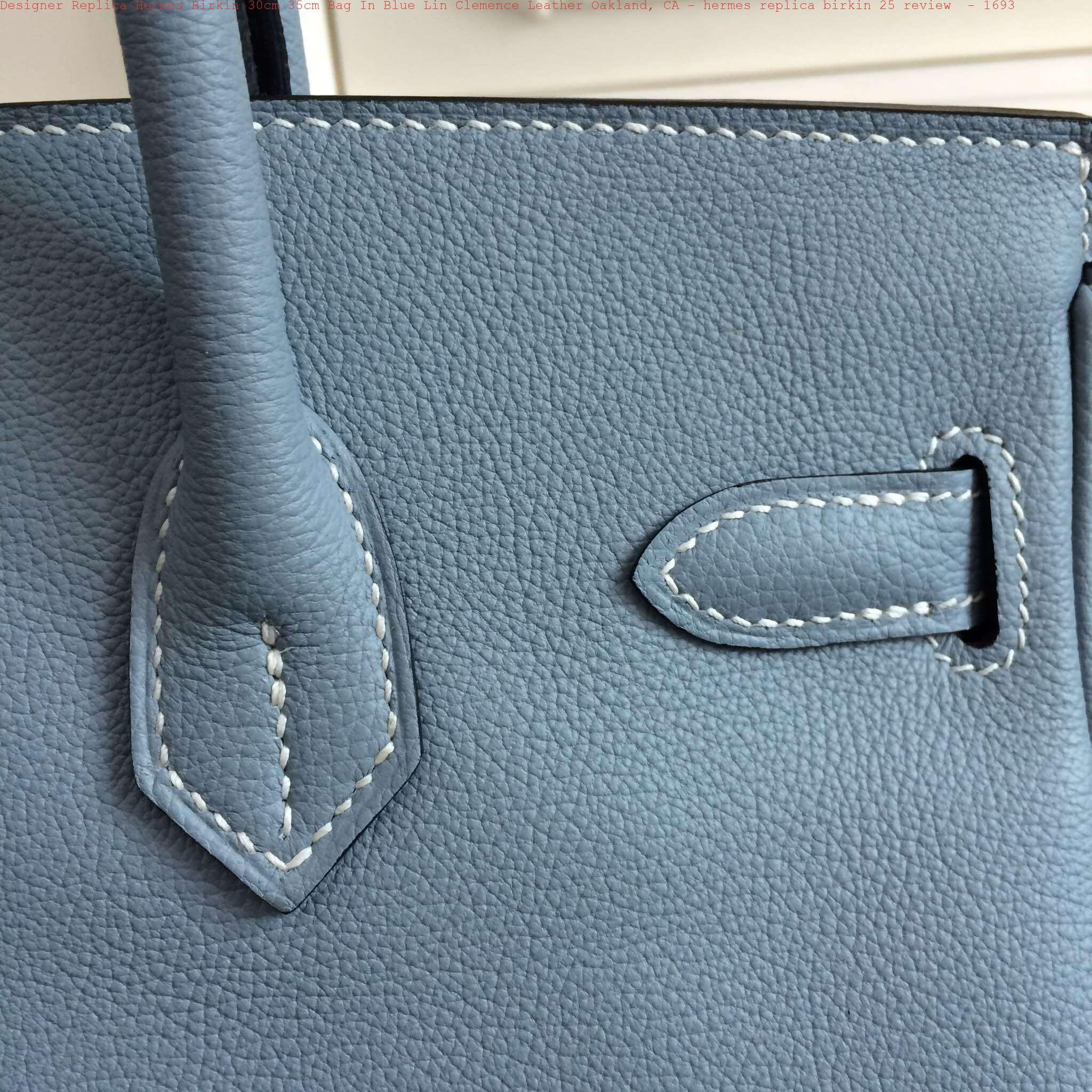 Designer Replica Hermes Birkin 30cm 35cm Bag In Blue Lin Clemence ... 4e8affc533b06